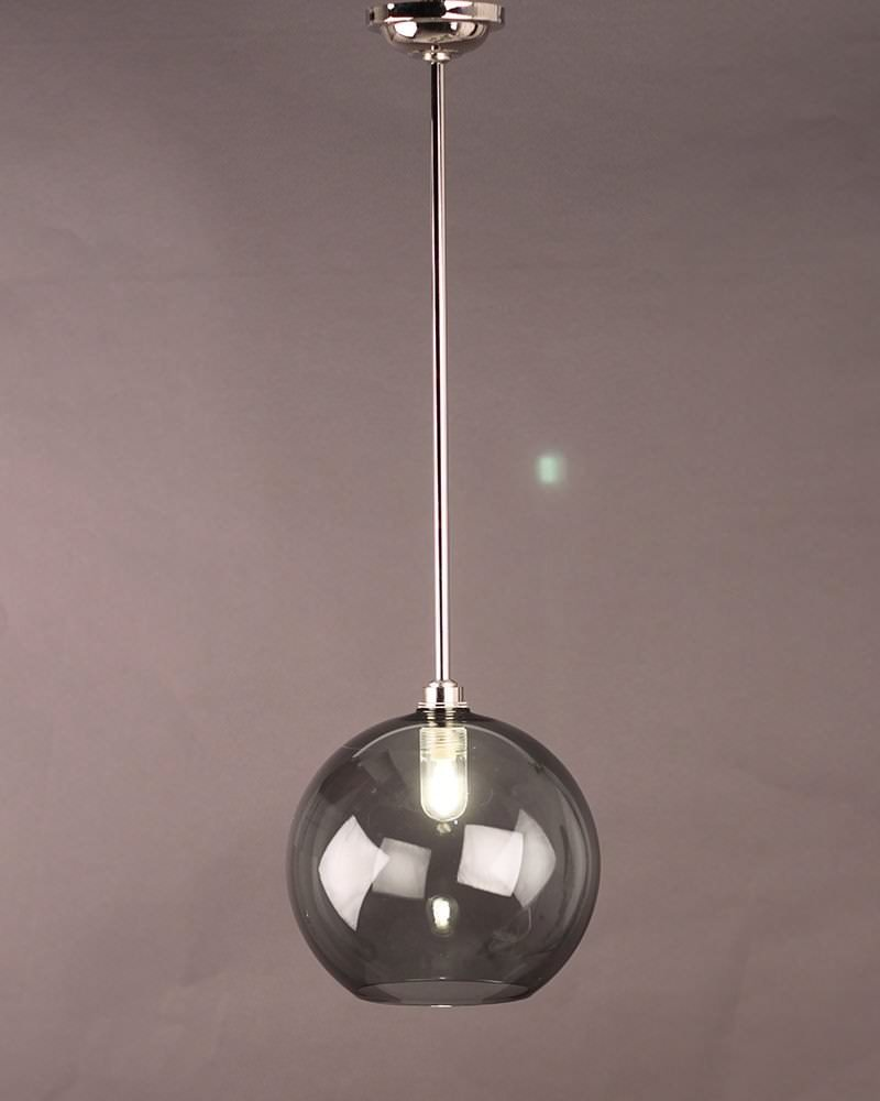 contemporary glass lighting lighting smoked glass globe pendant