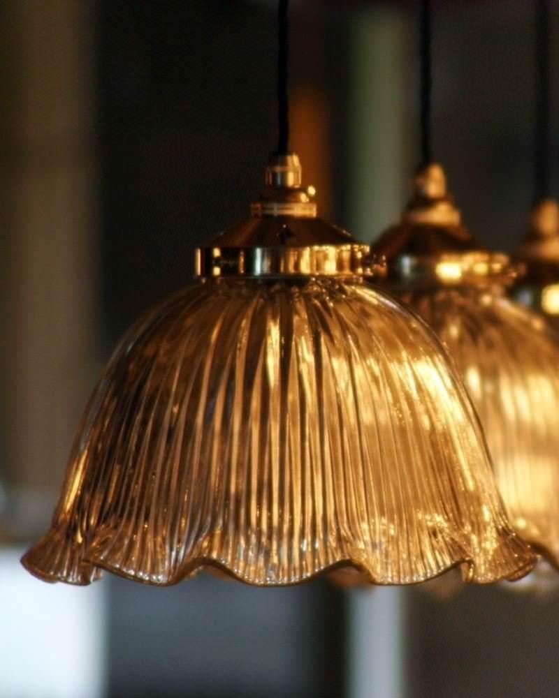 & Antique Chandelier Vintage Holophane Pendant Light