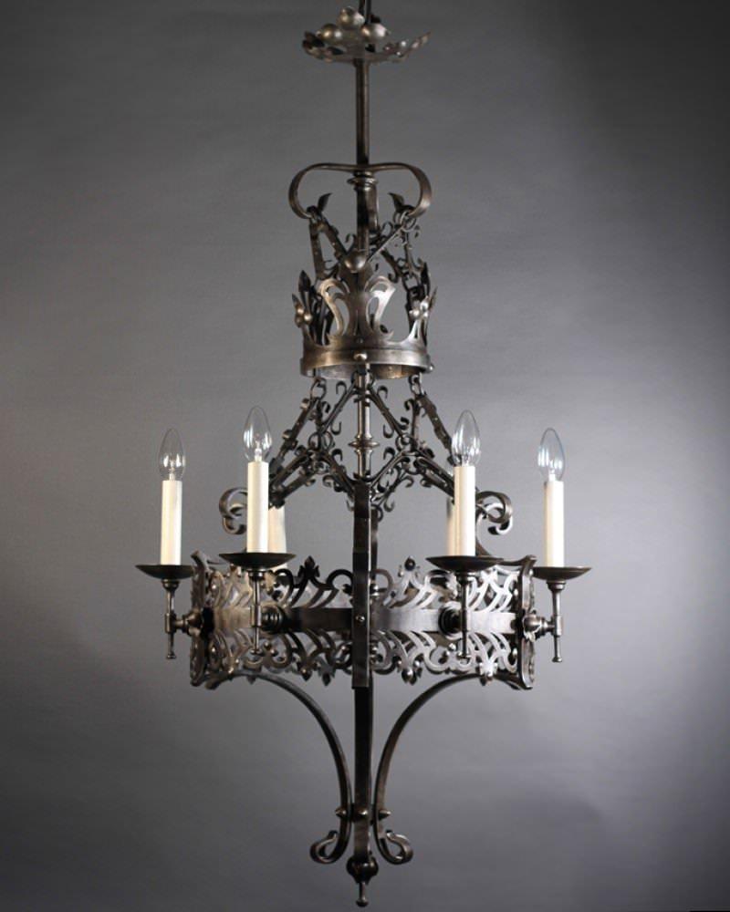 Iron Victorian Gothic Chandelier Fritz Fryer