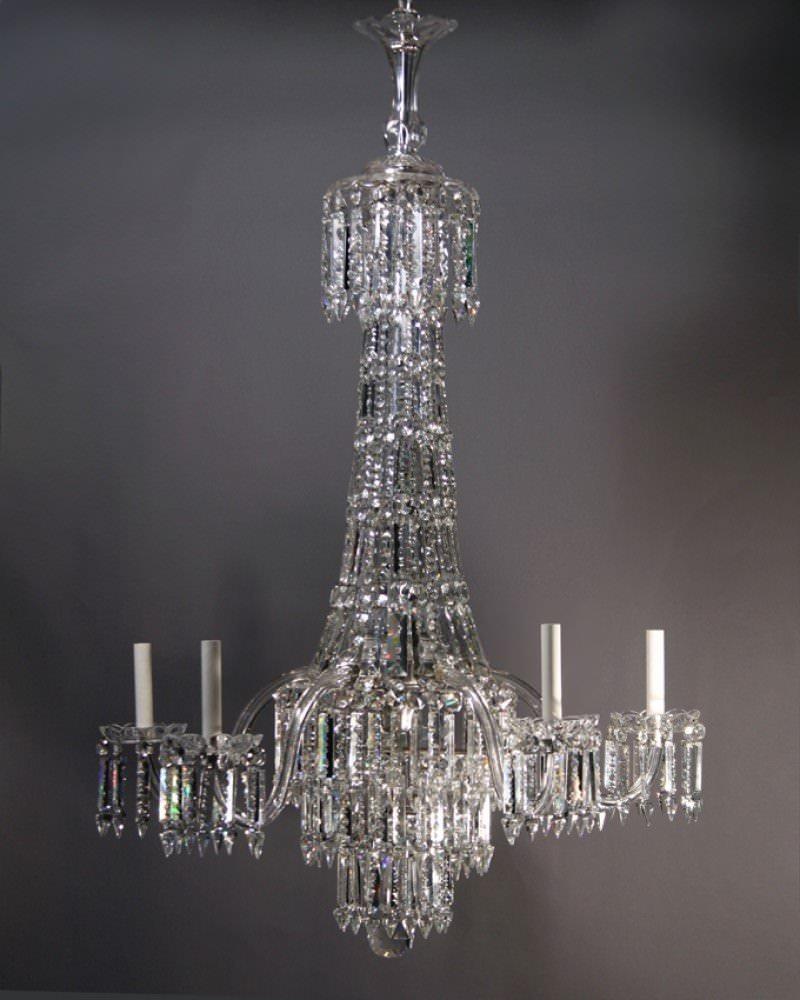 Antique Crystal Chandelier