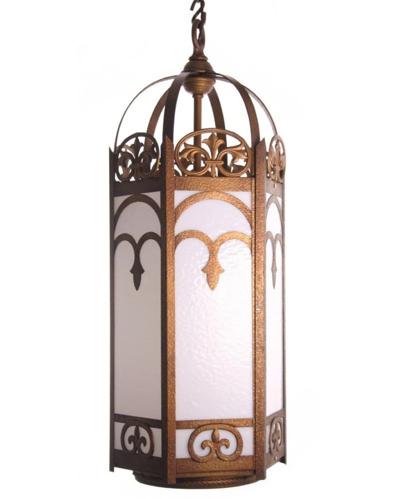 Id l1168a large gothic antique lantern was 163 820 00 656 00 very large