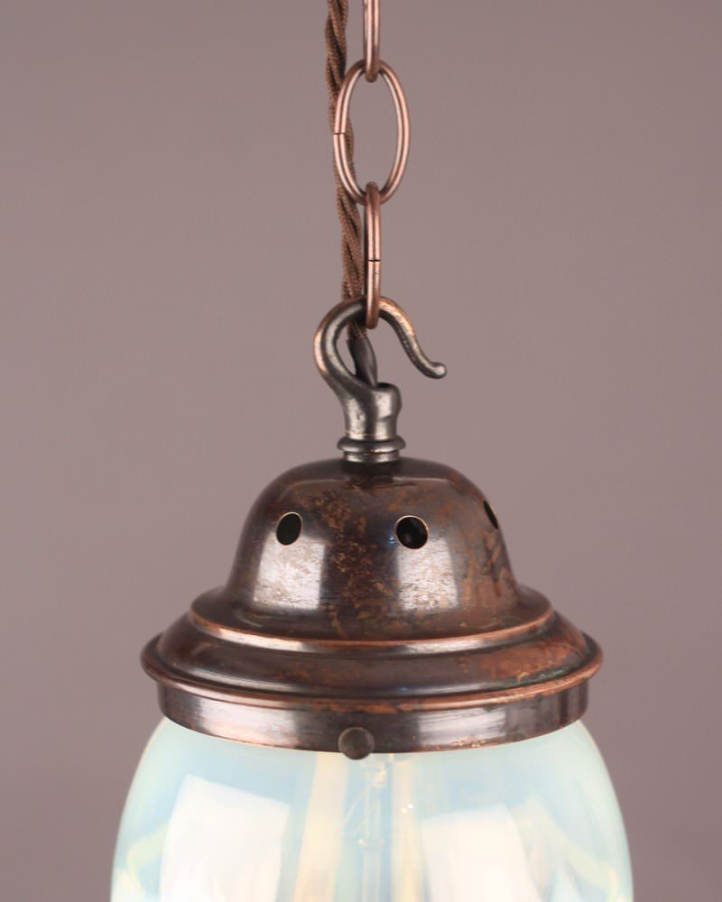 Antique Lighting Large Vaseline Antique Pendant Light