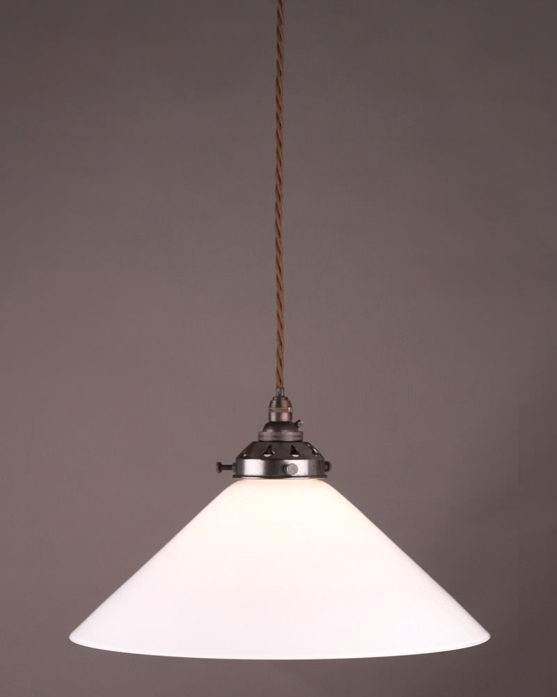 Modern Lighting Large White Coolie Pendant Light
