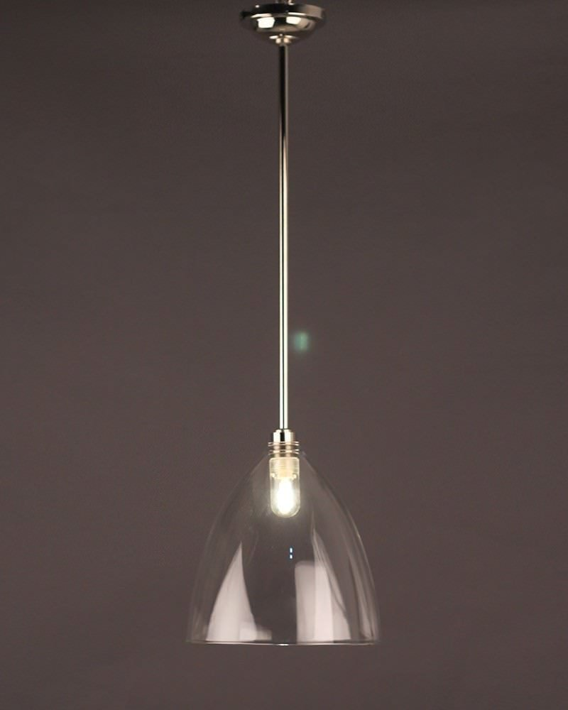 Clear Glass Ribbed Pendant Bathroom Ceiling Light Ledbury Retro Contemporary Design Ip44 Rated
