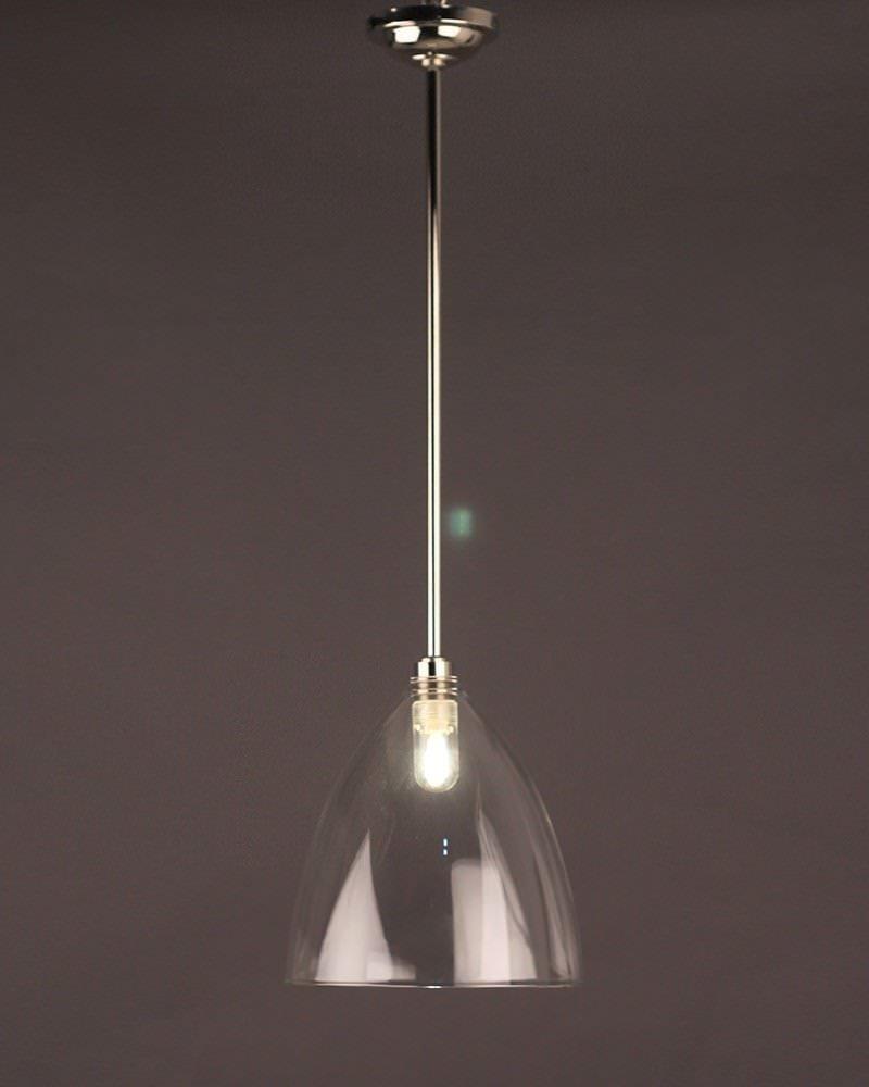 Ledbury Clear Glass Bathroom Ceiling Light