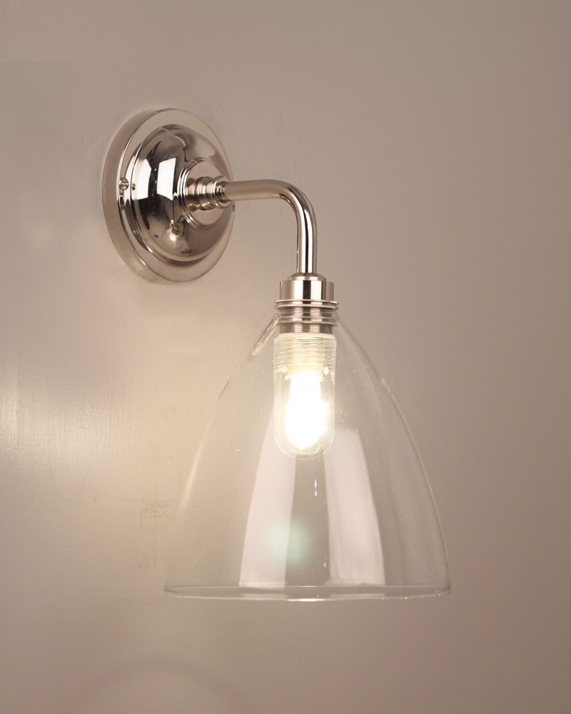 Contemporary Bathroom Lights Uk bathroom light, ledbury clear glass contemporary bathroom light