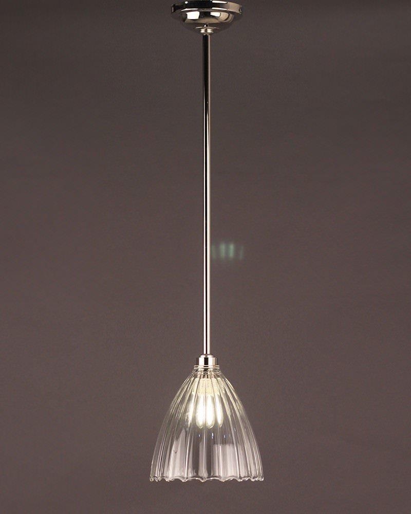 Ledbury Ribbed Glass Bathroom Ceiling Light Fritz Fryer