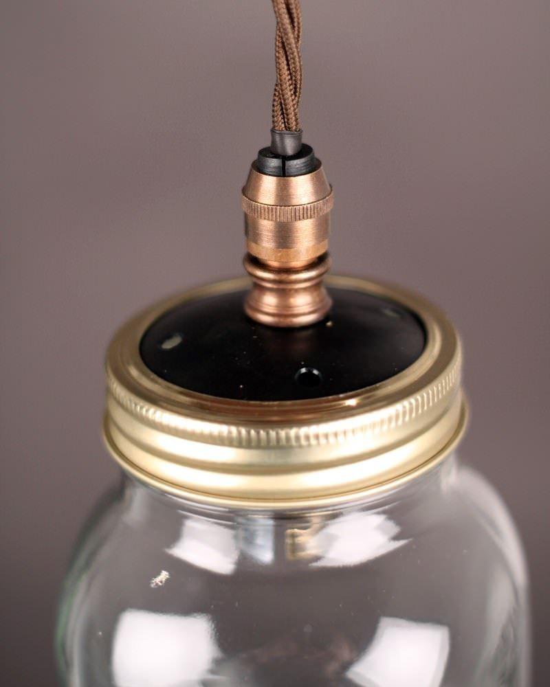 Upcycled Mason Jar Pendant Ceiling Lights Vintage Retro Lighting