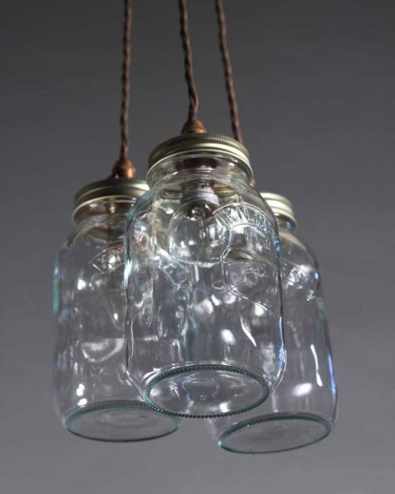 Upcycled mason jar pendant ceiling lights vintage retro lighting cluster pendant lights steampunk lighting upcycled mason jar mozeypictures Images
