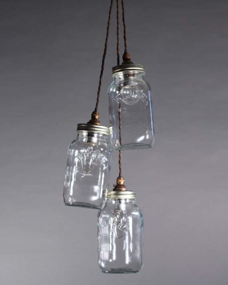 Mason jar pendant light fritz fryer for Hanging lights made from mason jars
