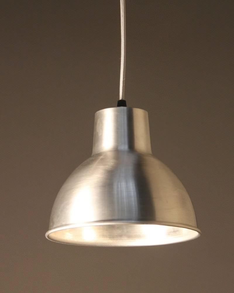 Spun Aluminium Pendant Ceiling Light Moccas Industrial Retro Lighting