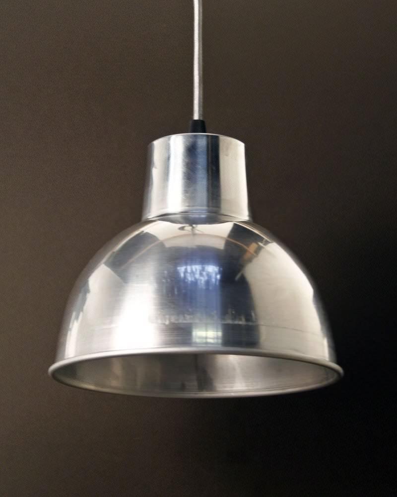 Spun Aluminium Pendant Ceiling Light, Moccas Industrial