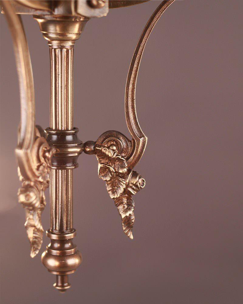 ornate 3 branch french gilt chandelier fritz fryer. Black Bedroom Furniture Sets. Home Design Ideas