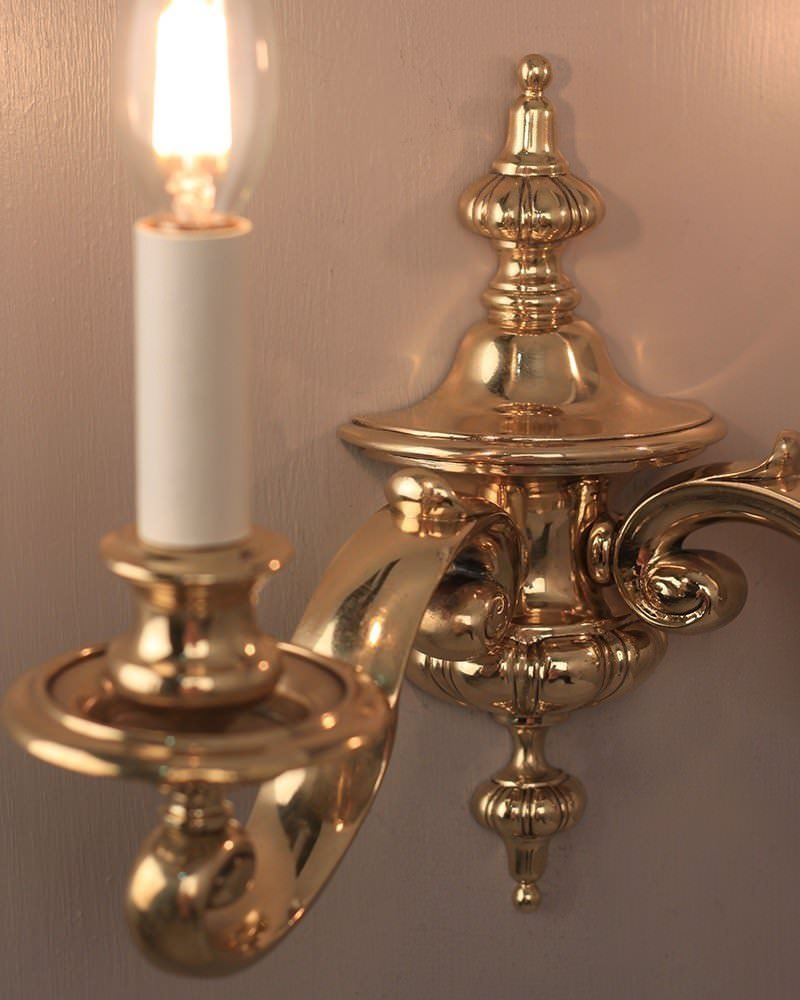 Pair Of Gadrooned Gec Wall Sconces, Antique Lighting