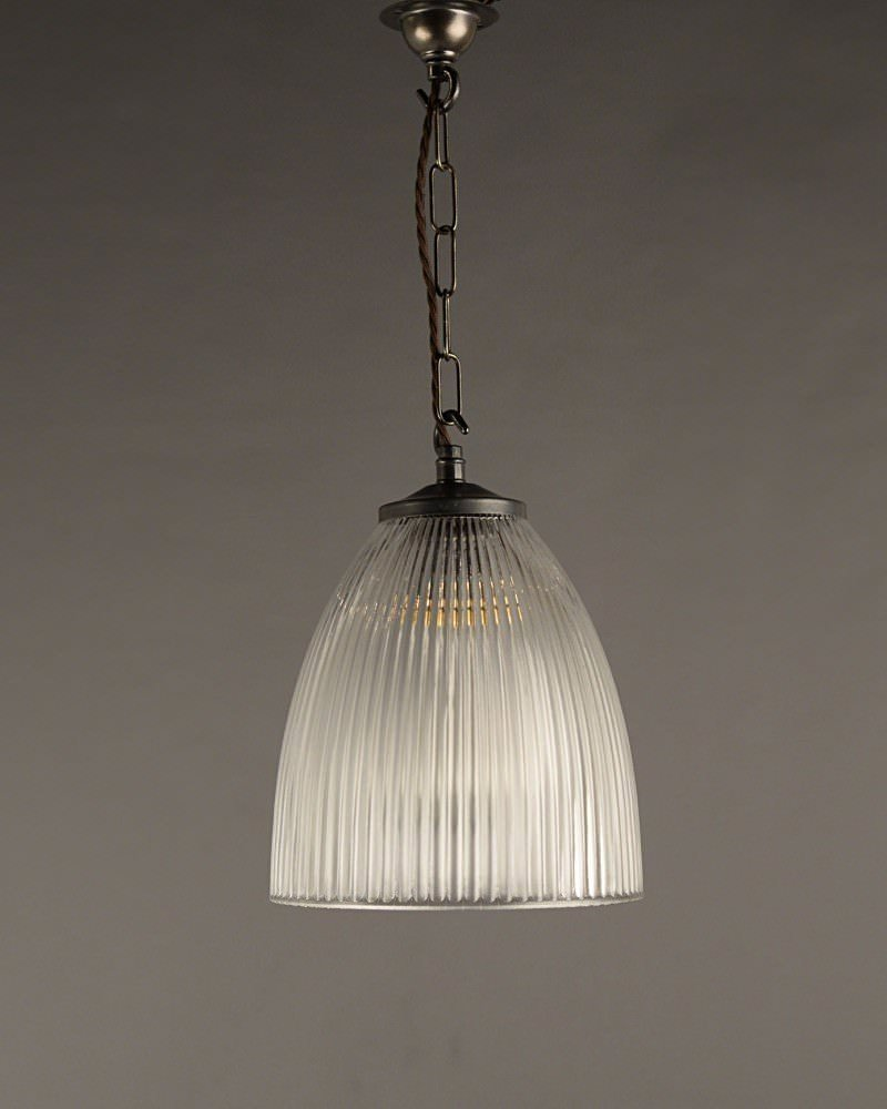 Prismatic Ribbed Glass Pendant Ceiling Light Peterstow Vintage Retro Design & Prismatic Ribbed Glass Pendant Ceiling Light Peterstow Vintage ...