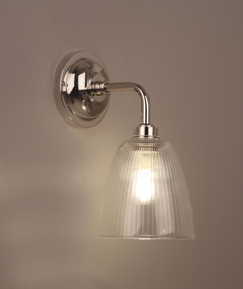 Bathroom Lighting Uk lighting, pixley skinny ribbed glass contemporary bathroom light