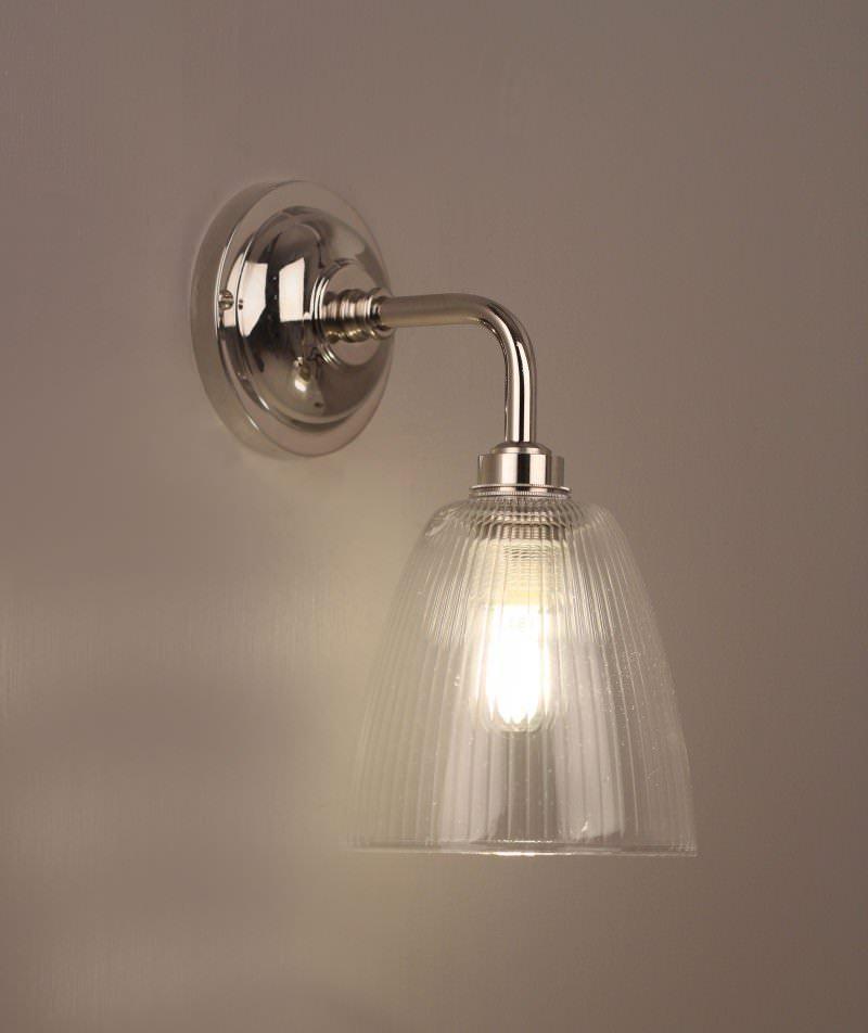 Pixley skinny ribbed glass contemporary bathroom light for Light bulbs for bathrooms