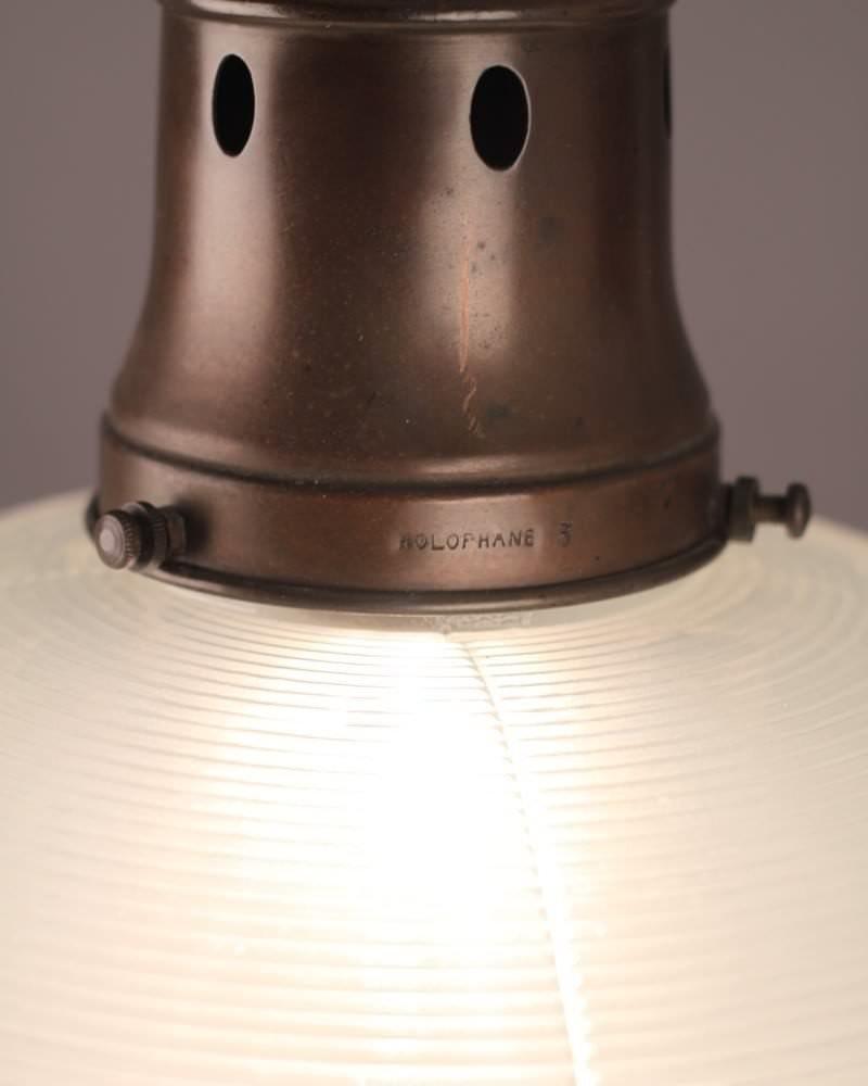 Pretty Holophane Pendant Light