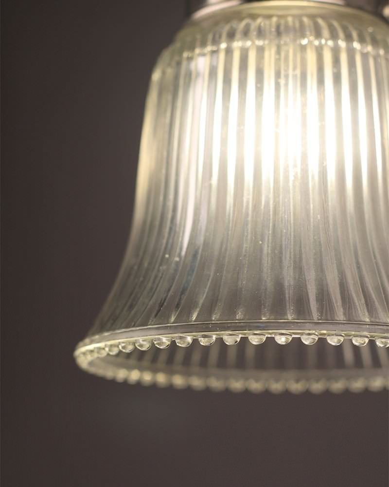 Clear glass fluted bell bathroom ceiling light retro lighting ip44 prismatic clear glass fluted bell bathroom ceiling light retro lighting ip44 rated arubaitofo Gallery