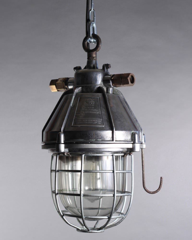 Reclaimed Industrial Explosion Proof Lamps, Vintage Retro Lighting