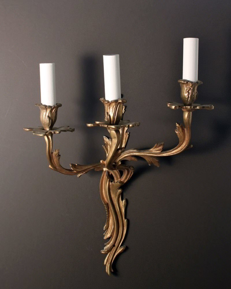 Antique Lighting, Rococo wall sconces (pair)