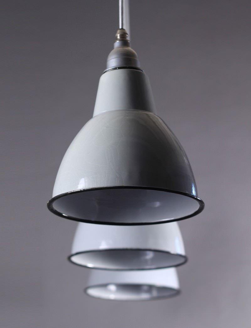 industrial pendant lighting small enameled pendant