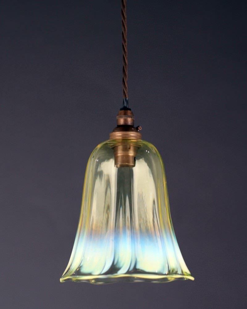 Designer Lighting Stunning Vaseline Glass Pendant Light