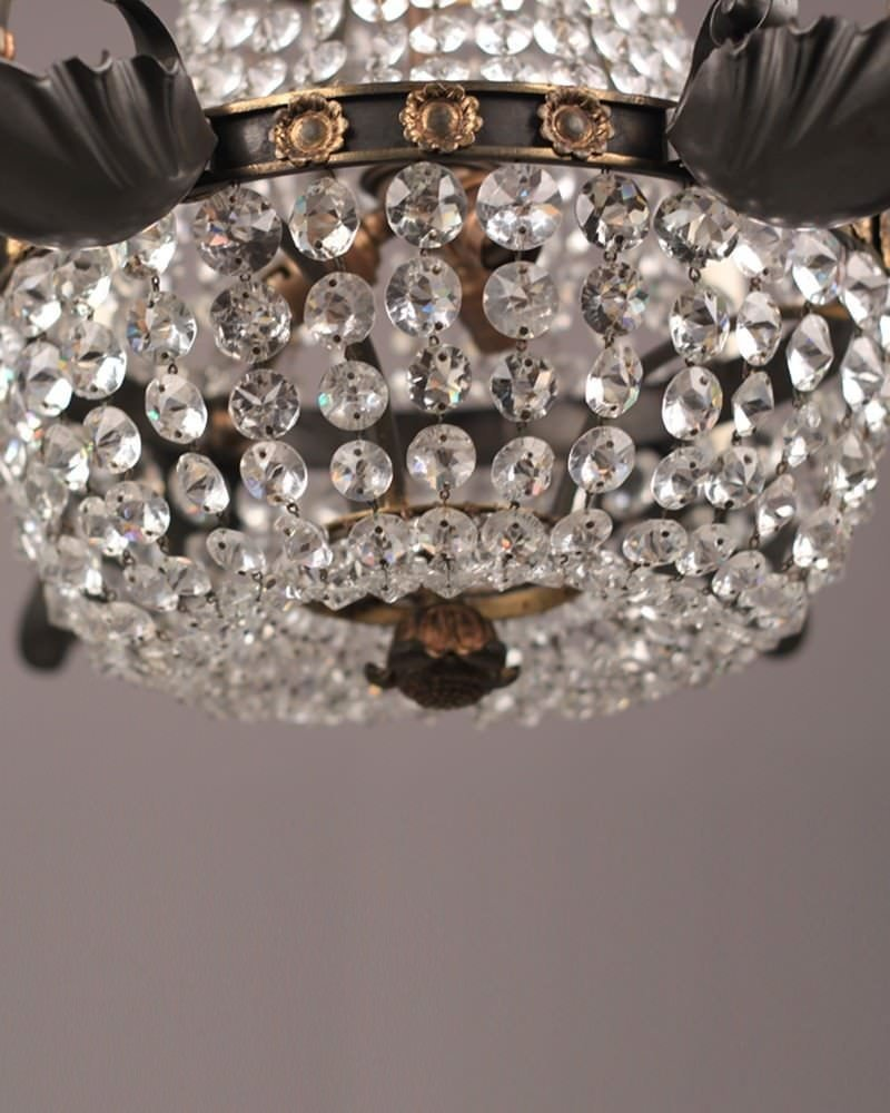 Neo classical crystal chandelier bronze and gilt antique lighting aloadofball Image collections