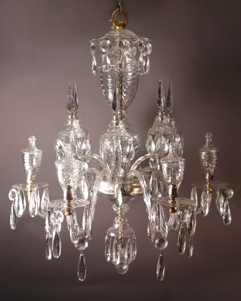 unique antique crystal chandelier fritz fryer