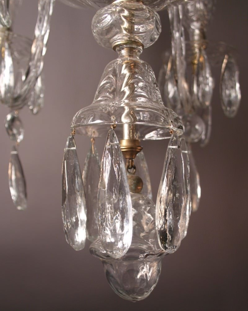 Unique Antique Crystal Chandelier