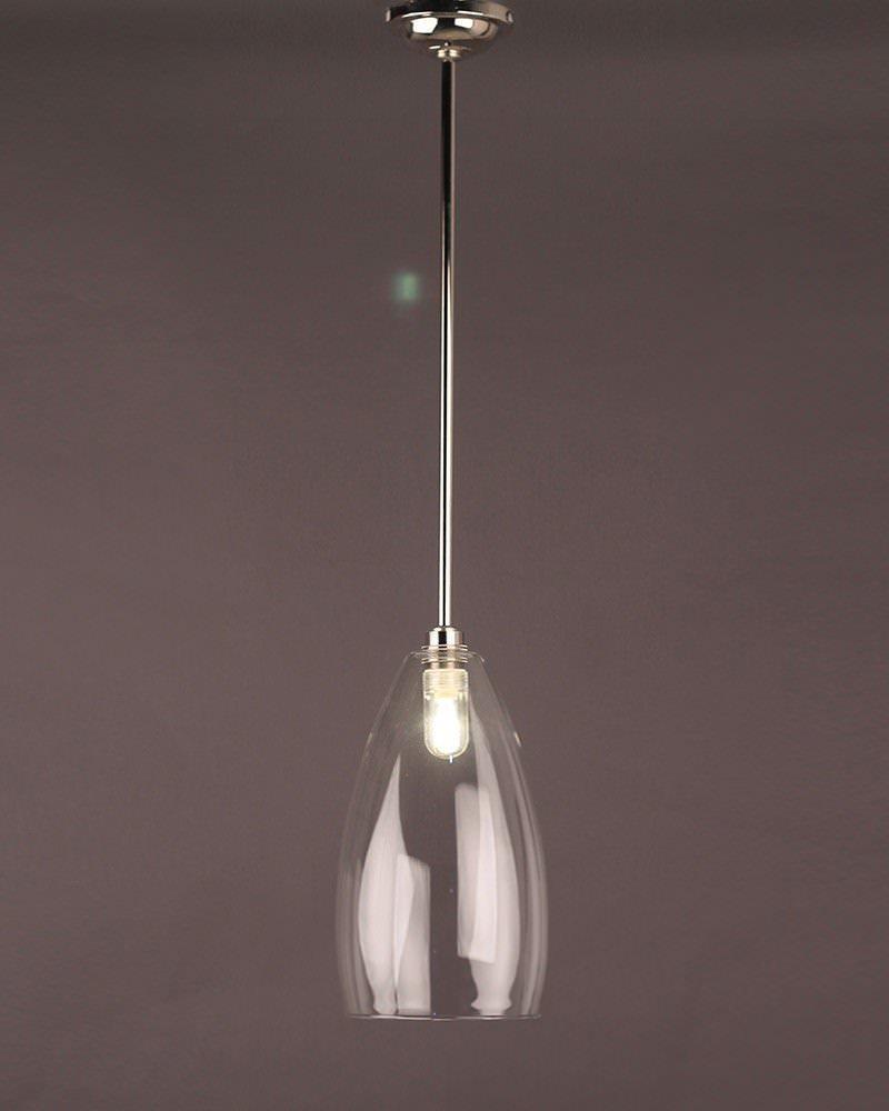 Upton Clear Glass Bathroom Ceiling Light Fritz Fryer
