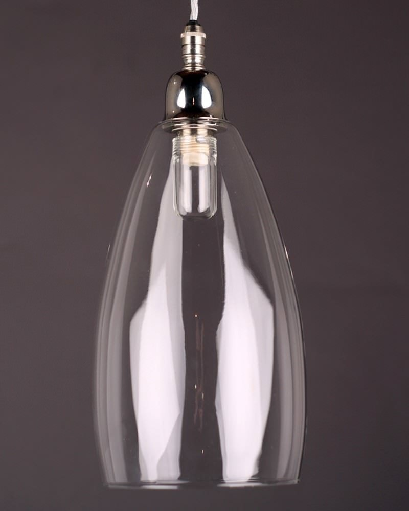 Upton Clear Glass Bathroom Pendant Light