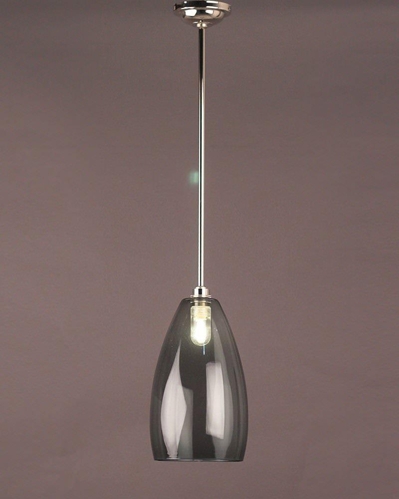 Upton Smoked Glass Bathroom Ceiling Light Fritz Fryer