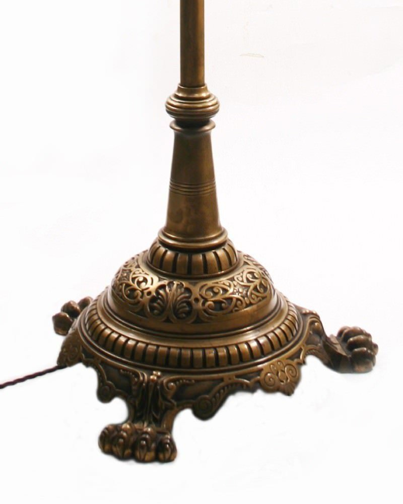 lamp poa this super example of an ornate brass victorian standard lamp. Black Bedroom Furniture Sets. Home Design Ideas