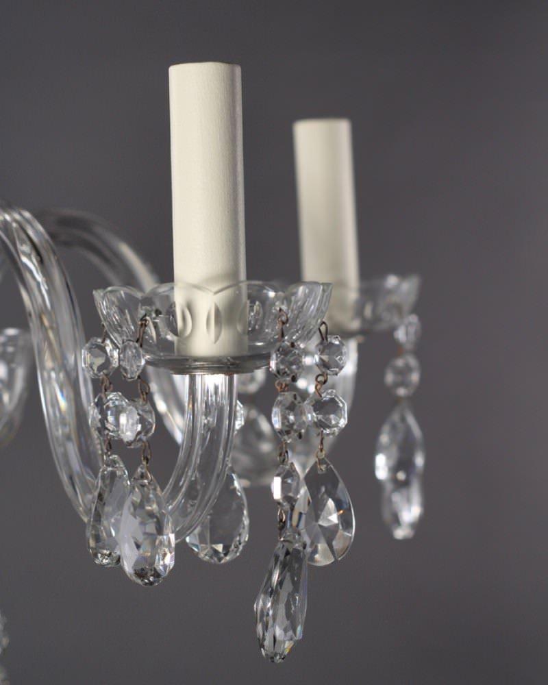 Vintage Crystal Chandelier Fritz Fryer
