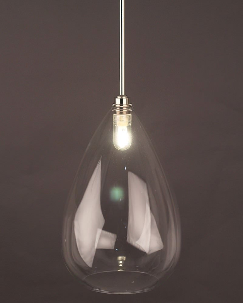 Wellington Clear Glass Bathroom Ceiling Light