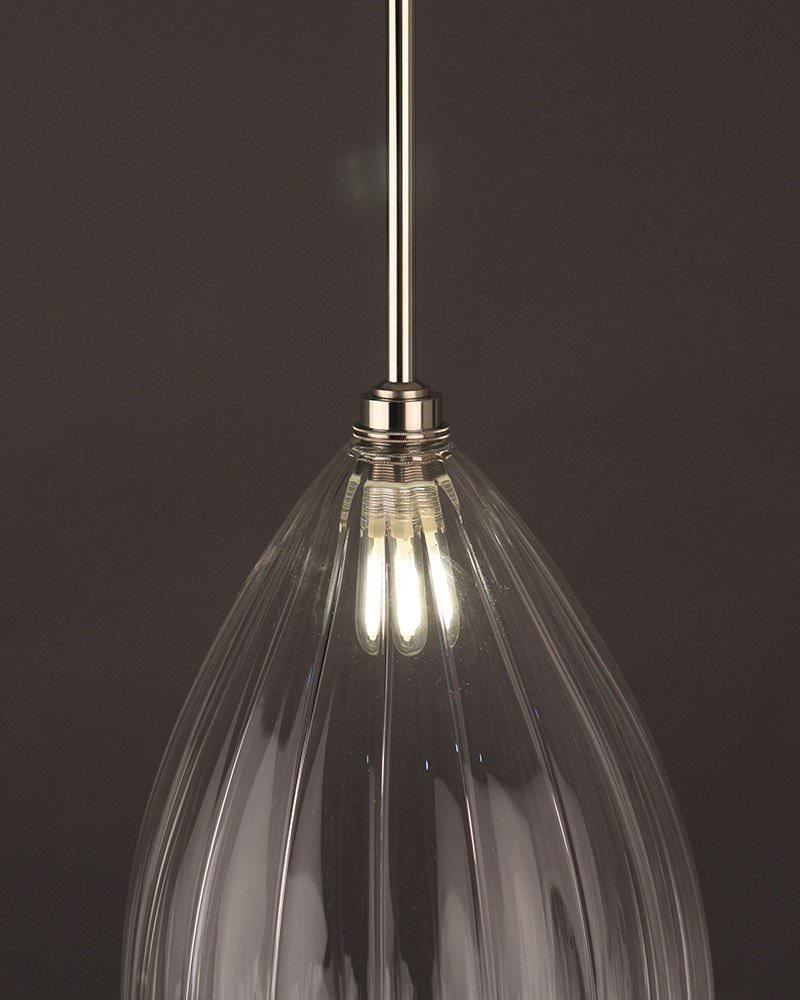 Wellington Ribbed Glass Bathroom Ceiling Light Fritz Fryer