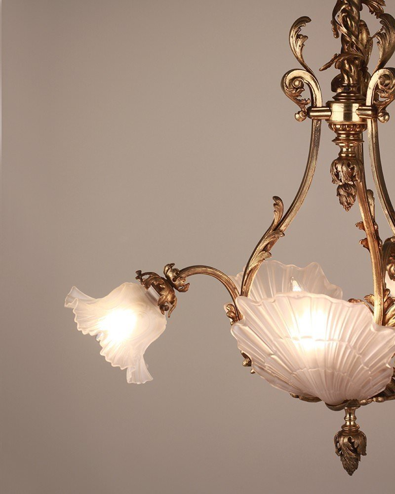 Rococo chandelier light collections light ideas french chandelier 3 branch rococo style french gilt plaffonier mozeypictures Choice Image