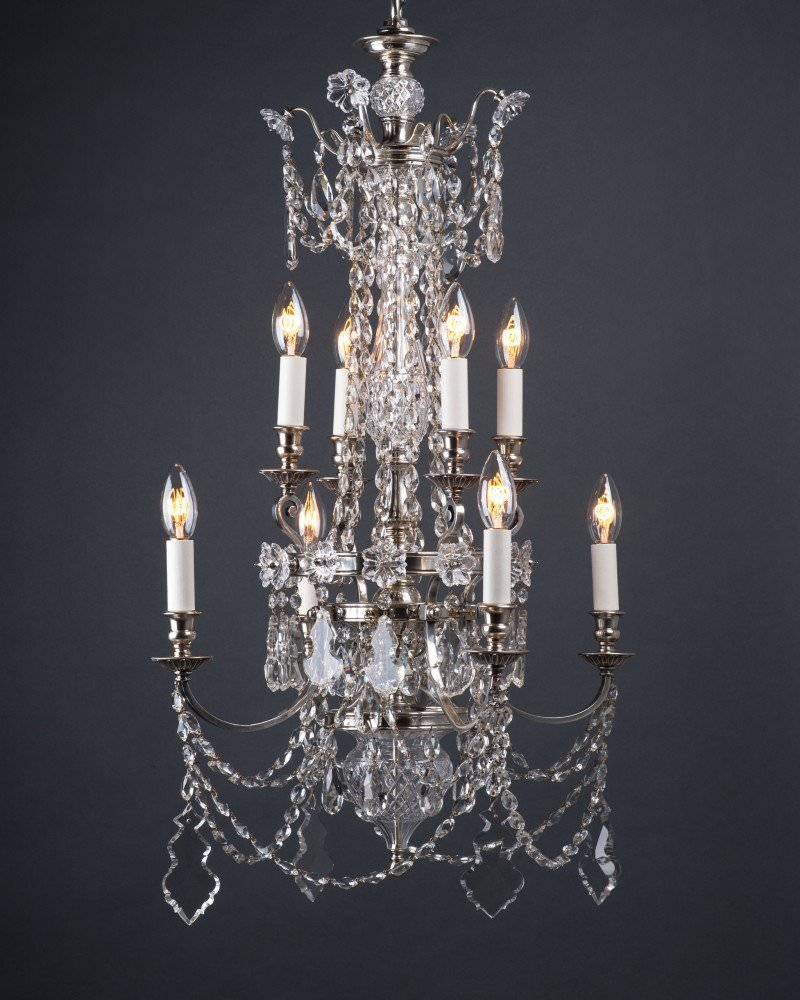 Pair Of Superb Quality Crystal Chandeliers By F Amp C Osler