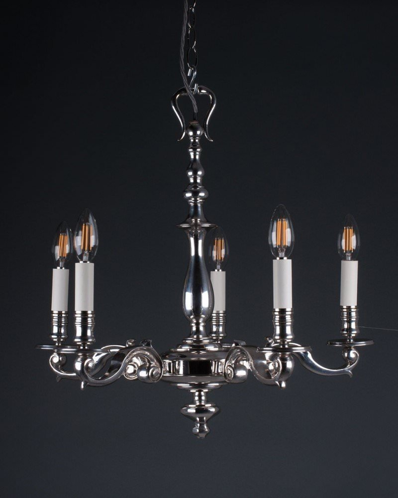 Quality 5 branch silver plate chandelier antique lighting mozeypictures Image collections