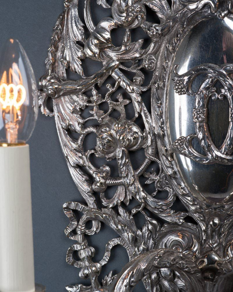 Pair Of Spectacular Early 19th Century Candle Sconces, Antique Lighting