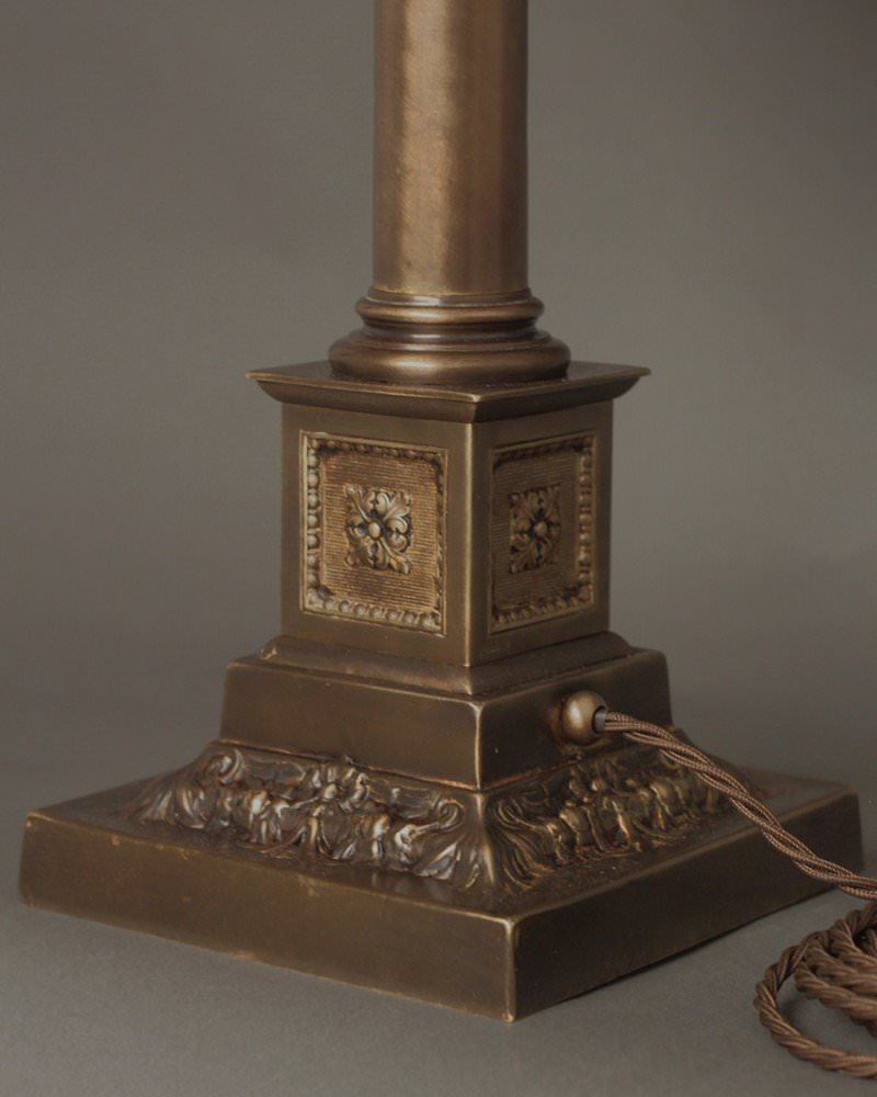 Bronze corinthian column table lamp rubbed bronze corinthian column table lamp geotapseo Choice Image