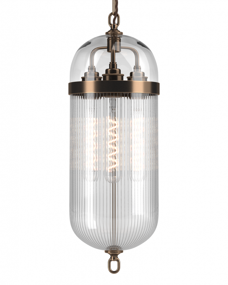 Aston Lantern with Clear Glass Top