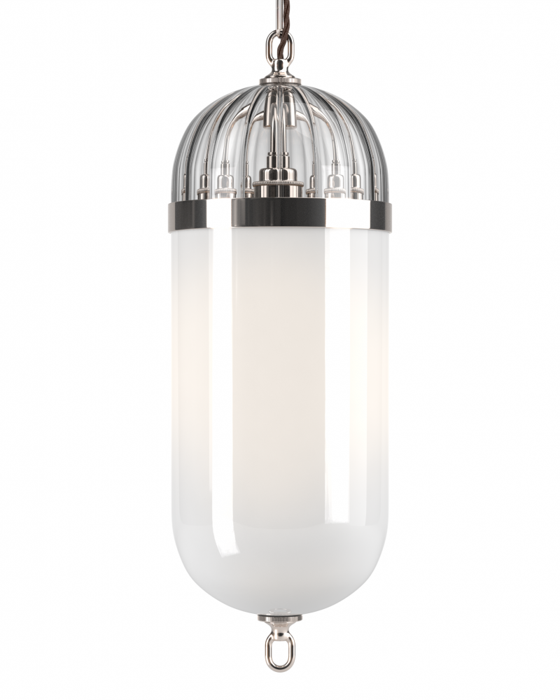 Aston Lantern with Ribbed Glass top