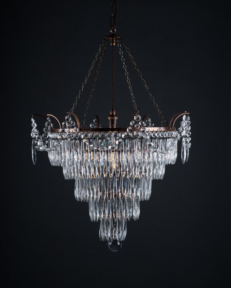basilano eglo pendant light chrome itm crystal cognac new chandelier