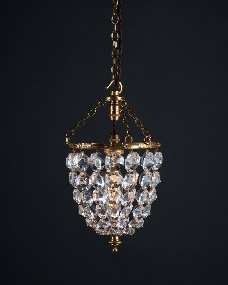 Small tarrington crystal bag chandelier retro lighting aloadofball Image collections