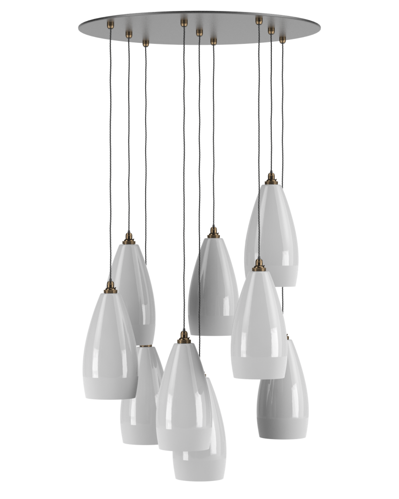 Ceramic Cluster Pendant Ceiling Light, Upton Retro ...