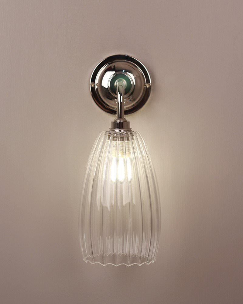 Cool Bathroom Lights Uk bathroom light, upton ribbed glass contemporary bathroom light