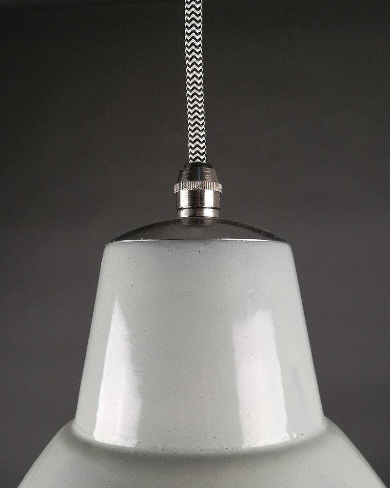 White Enamel Pendant Ceiling Light, Industrial Retro Lighting