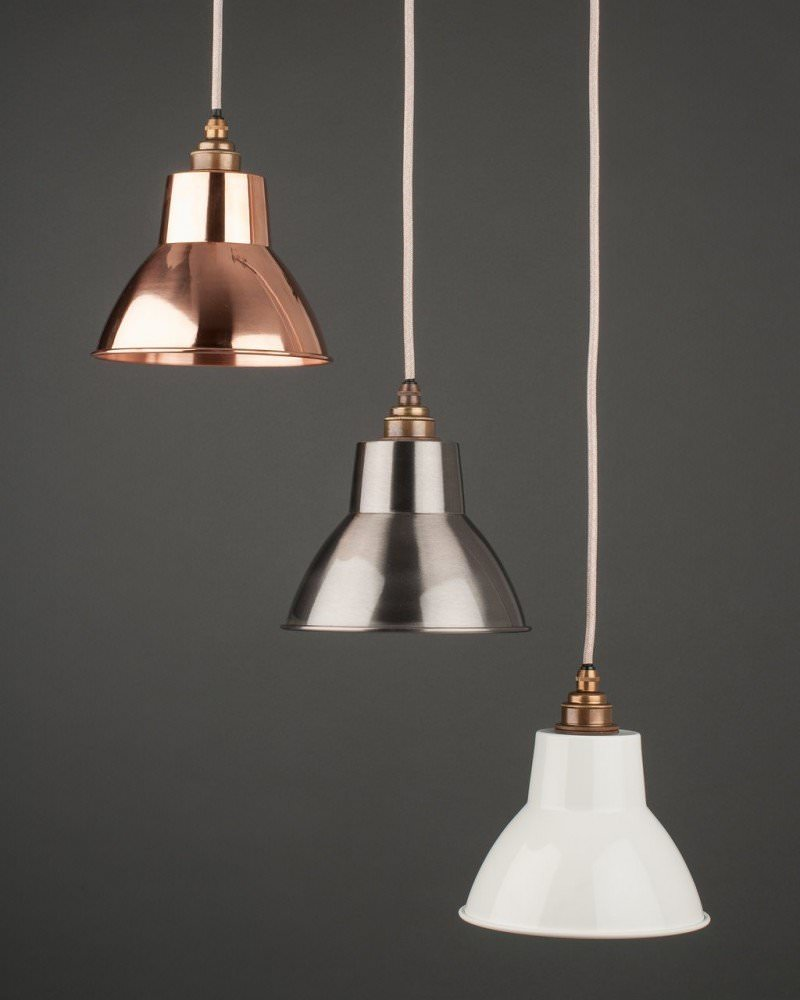 Copper Industrial Pendant Ceiling Light, Moccas Retro